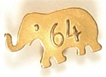 Goldwater 64 Embossed Elephant Pin