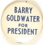 Barry Goldwater for President Blue, White Celluloid
