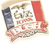 GW Bush Iowa 2000 Pin