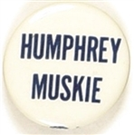 Humphrey, Muskie Blue and White Celluloid