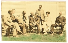 Calvin, Grace Coolidge and Friends Postcard