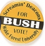 Bush Wake Forest Screamin Deacons
