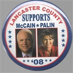 Lancaster County for McCain, Palin