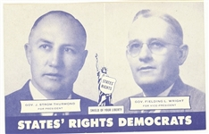 Thurmond-Wright States Rights Party Postcard