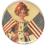 Beautiful Little Girl Patriotic Mirror