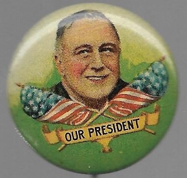 Franklin Roosevelt Multicolor Litho