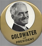Goldwater for President 9 Inch Pin
