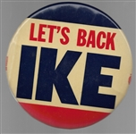 Lets Back Ike 6 Inch Celluloid