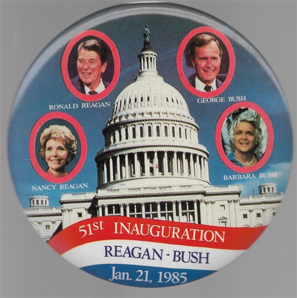 Reagans and Bushes 6 Inch Celluloid