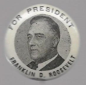 Franklin Roosevelt Sharp Picture Pin