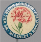 McKinley and Roosevelt Carnation Pin