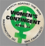 Womens Contingent March Against the War