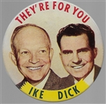 Ike and Dick Theyre For You Large Size Litho