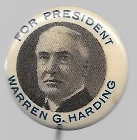 Harding for President White Border