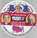 Bush, Cheney, Reagan We Won One for the Gipper 6 Inch Celluloid