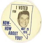 Nevada I Voted for Reagan 1976 Pin