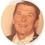 Reagan Color Photo With Signature