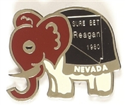Reagan Nevada Sure Bet Enamel Elephant Pin