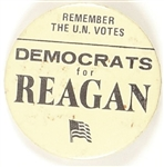 Democrats for Reagan, Remember the U.N. Votes