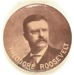 Theodore Roosevelt Unusual Sepia Celluloid