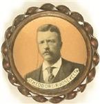 Theodore Roosevelt Framed Gold Color Celluloid