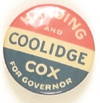 Harding, Coolidge, Cox Massachusetts Coattail