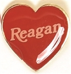 Reagan Clutchback Heart Pin