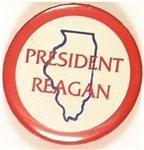 President Reagan Illinois Celluloid