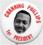 Channing Phillips for President 1968 Pin