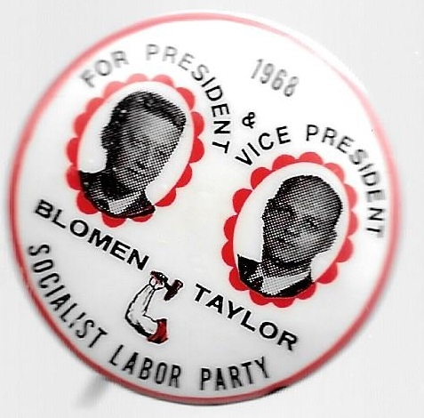 Blomen, Taylor Socialist Labor Party 1968 Jugate