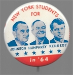New York Students for LBJ, HHH, RFK Orange Version
