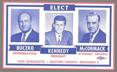 John Kennedy Massachusetts Coattail Card
