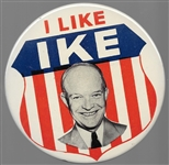 I Like Ike Large Litho Shield Pin