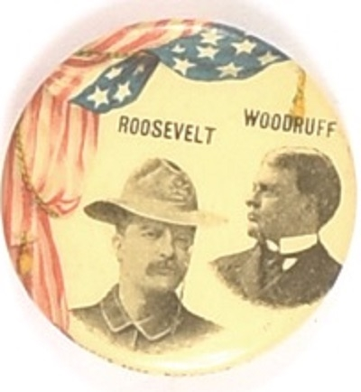Theodore Roosevelt, Woodruff New York Rough Rider Pin
