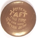 Vote for Taft You Can Vote for Bryan Anytime