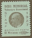 Debs Memorial Voluntary Assessment Stamp