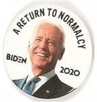 Biden Return to Normalcy