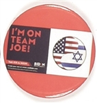Team Joe Jewish Pin