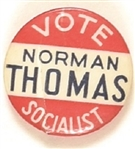 Vote Norman Thomas Socialist Celluloid