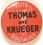 Thomas and Krueger 1940 Socialist Celluloid
