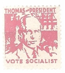 Norman Thomas for President Stamp