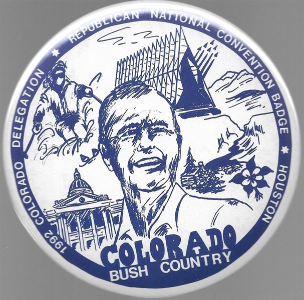 George Bush Colorado Delegation 6 Inch Celluloid