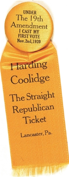 Harding, Coolidge 19th Amendment First Vote