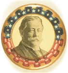 William Howard Taft Colorful Border Celluloid