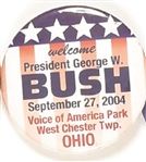 Bush West Chester, Ohio Visit