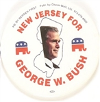 New Jersey for George W. Bush Red Letters