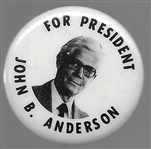 John Anderson for President 1 1/4 Inch Pin