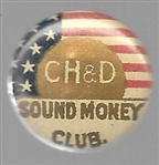 McKinley CH & D Railroad Sound Money Stud