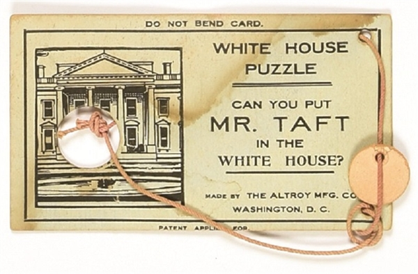 Taft White House Cardboard Puzzle