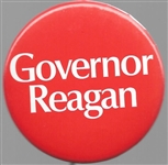 Governor Reagan 1970 Red 2 1/4 Inch Pin